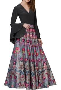 grey-chintz-embroidered-skirt