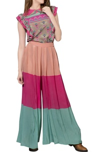 peach-hot-pink-turquoise-palazzos