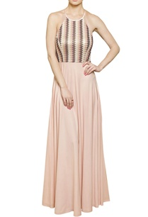 blush-pink-halter-neck-gown