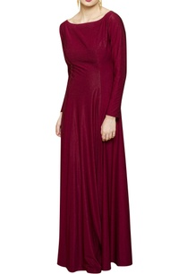 wine-gown-with-cutout-back
