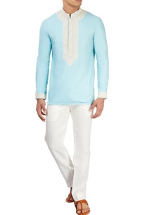 powder-blue-embroidered-kurta