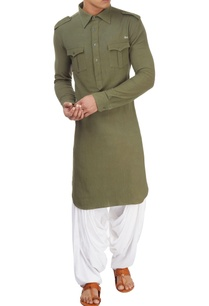 military-green-long-kurta