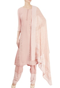 dusky-pink-pin-tucked-kurta-set