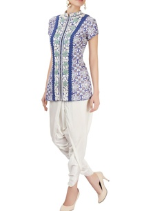 blue-embroidered-pant-set