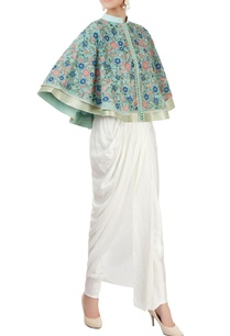 mint-green-embroidered-cape-with-dhoti-pants