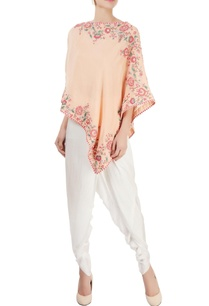 peach-embroidered-cape-top-with-pants
