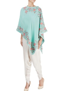 green-embroidered-cape-top-with-pants