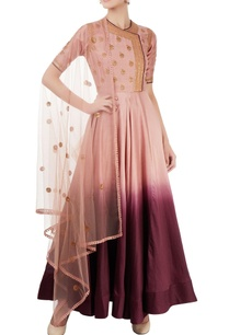 pink-wine-shaded-anarkali-set