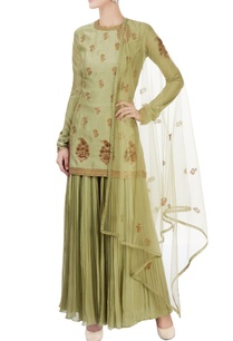 olive-green-embroidered-gharara-set