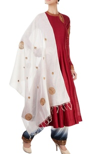 red-white-embroidered-anarkali-set