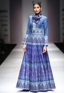 turquoise-cerulean-blue-maxi-dress