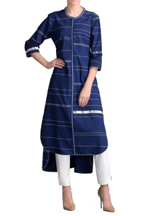 indigo-high-low-striped-kurta-with-pants