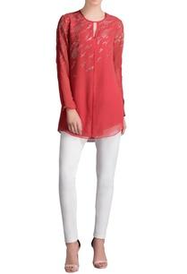 red-silver-embellished-shirt