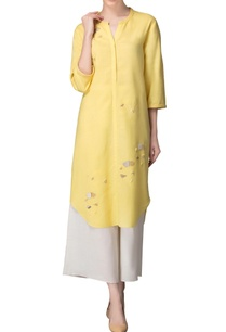 lime-yellow-applique-work-kurta-with-palazzos