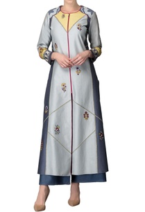 smokey-blue-embroidered-kurta-jacket