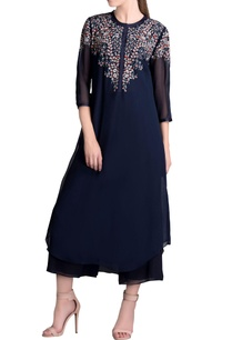 navy-embellished-tunic