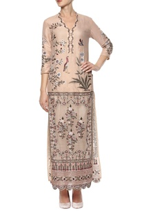 beige-embroidered-kurta-set