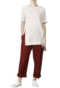 white-asymmetric-shirt-with-red-checks