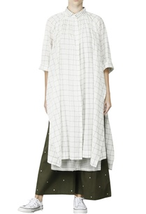 white-olive-gathered-kurti