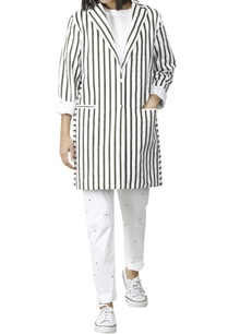 white-jacket-with-olive-green-stripes