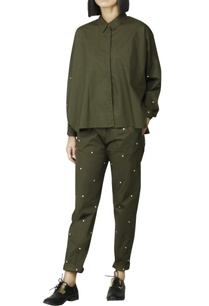 olive-green-polka-dotted-pants