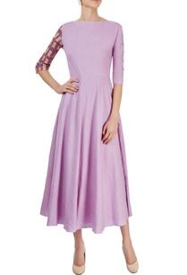 lilac-cat-print-midi-dress