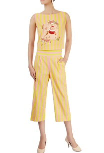 yellow-pink-striped-co-ord-set