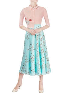 blush-pink-aqua-blue-midi-dress