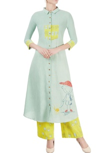 mint-green-shirt-kurta-lime-yellow-palazzos