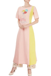 peach-embroidered-long-kurta-printed-palazzos