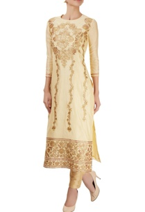 light-gold-kurta-with-appliques