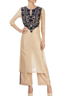 beige-kurta-with-appliques