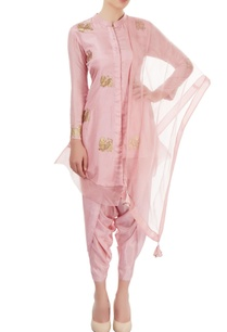 pink-hand-painted-dhoti-set