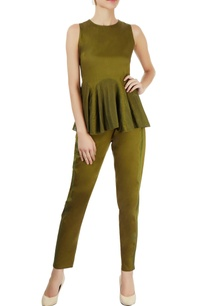 military-green-pants-with-lace-trims
