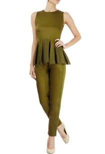 military-green-paneled-top