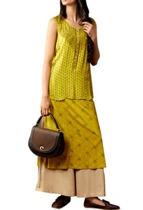yellowish-green-kurta-set