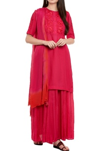 pink-kurta-set-with-skirt
