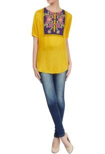 yellow-asymmetric-tunic