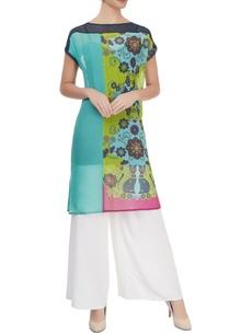 turquoise-blue-digital-printed-tunic