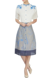white-dress-with-hand-embroidery-applique