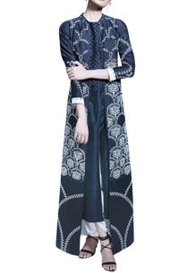white-dhoti-pants-with-black-jacket