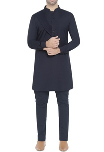 navy-blue-cotton-kurta