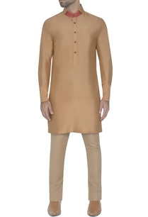 light-gold-kurta-with-patch-collar