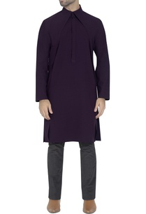 deep-purple-draped-kurta