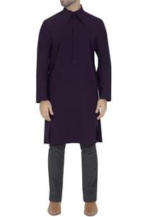 deep-purple-draped-kurta
