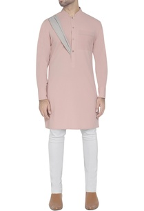 pink-kurta-with-drape-detail