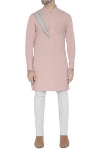 pink-kurta-with-drape-detail