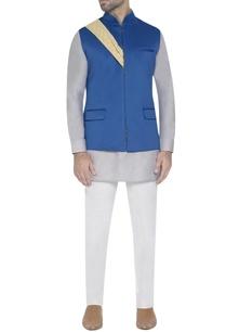 cobalt-blue-waistcoat-with-drape-detail