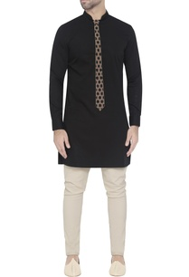 black-cotton-kurta