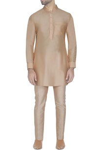 light-peach-silk-kurta